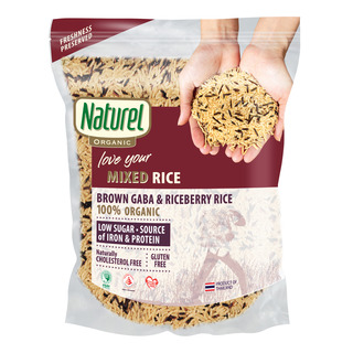 Naturel Organic Rice - Mixed Brown Gaba & Riceberry