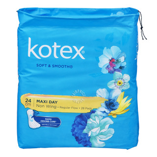 Kotex Soft & Smooth Maxi Non Wing Pads - Regular