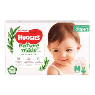 Huggies Platinum Diapers - M (6 - 11kg)