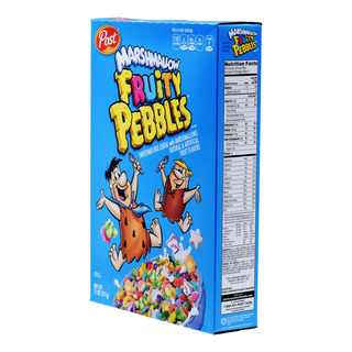 Post Sweetened Rice Cereal - Fruity Pebbles with Marshmallow