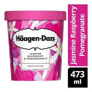 Haagen-Dazs Ice Cream - Jasmine, Raspberry & Pomegranate 473ml