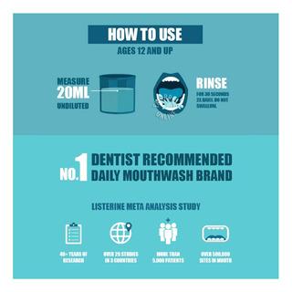 Listerine Travel Pack Mouthwash - Cool Mint