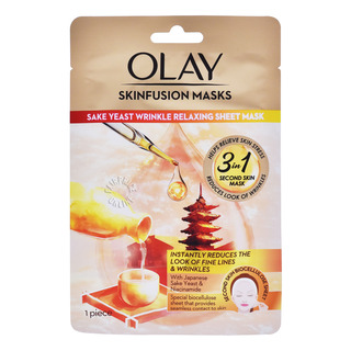 Olay Skinfusion Sheet Masks - Sake Yeast