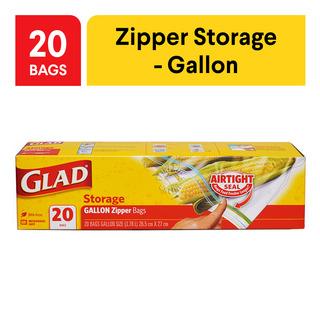 Glad Storage Zipper Bags - Gallon