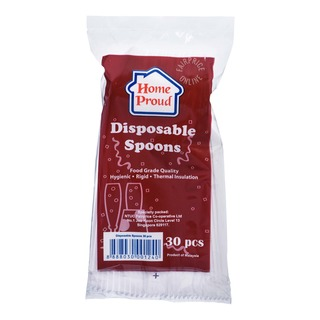 HomeProud Disposable Spoons - White