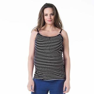 Spring Maternity Corey Nursing Camisole Black Stripe