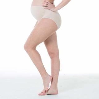 Spring Maternity Mavis Seamless Belly Support Brief Nude