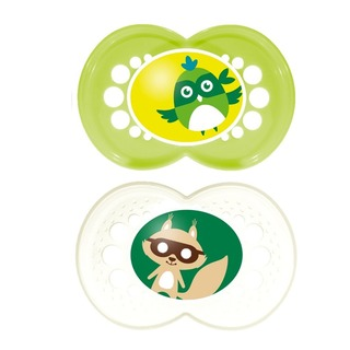 MAM Original Baby Pacifier (16+ Months) - Green/Grey