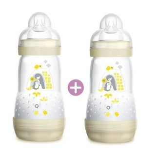 MAM Easy Start Anti-Colic Bottle Double Pack - Ivory