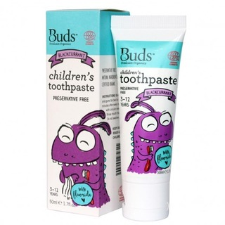 Buds Organics Childrens Toothpaste with Flouride - Blackcurrent