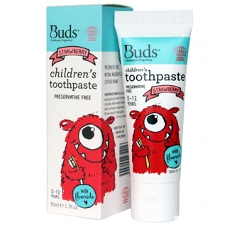 Buds Organics Childrens Toothpaste with Flouride - Strawberry