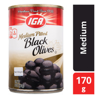 IGA Pitted Black Olives - Medium