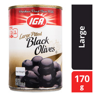 IGA Pitted Black Olives - Large