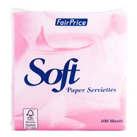 FairPrice Soft Paper Serviettes - Pink