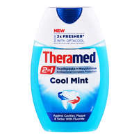 Theramed 2 in 1 Toothpaste + Mouthrinse - Cool Mint