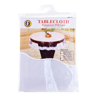 Dolphin Collection Tablecloth - Transparent Round