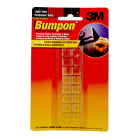 3M Bumpon Clear Tabs - Square (Mini)