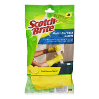 3M Scotch-Brite Multi-Purpose Gloves - Fresh Lemon (M)