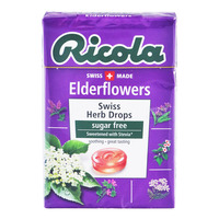 Ricola Natural Relief Swiss Herb Lozenges - Elderflowers(No Sugar)