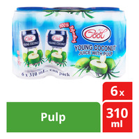 Ice Cool Young Coconut Can Juice - Pulp