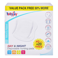 Tollyjoy Disposable Nursing Pad - Day & Night 40S + Free 8S