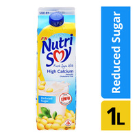 F&N NutriSoy Fresh Soya Milk - High Calcium (Reduced Sugar) 1L