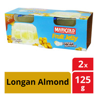 Marigold Fruit Cup Jelly - Longan Almond  2 x 125G