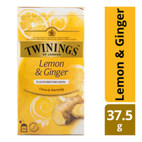 Twinings Flavoured Infusion Teabags - Lemon and Ginger 37.5G