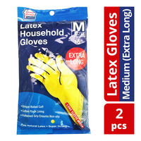 HomeProud Latex Household Gloves - M (Extra Long)