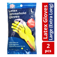 HomeProud Latex Household Gloves - L (Extra Long)