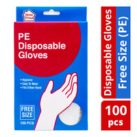 HomeProud Disposable Gloves - Free Size (PE)