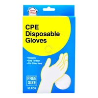 HomeProud Disposable Gloves - Free Size (CPE)