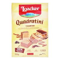 Loacker Quadratini Crispy Wafers - Tiramisu
