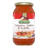San Remo Pasta Sauce - Tomato with Onion & Garlic