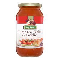 San Remo Pasta Sauce - Tomato, Onion & Garlic