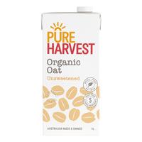 Pureharvest Organic Oat Milk - Unsweetened 1L