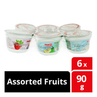 Meiji Low Fat Yoghurt - Assorted Fruits