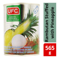 UFC Can Fruit in Syrup - Rambutan Stuffed with Pineapple