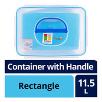 Komax Biokips Plastic Container with Handle - Rectangle