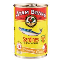 Ayam Brand Sardines in Tomato Sauce - Tomato Garlic