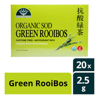 Nature's Nutrition Organic Tea Bag - Green RooiBos 20 x 2.5G