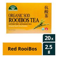 Nature's Nutrition Organic Tea Bag - Red RooiBos 20 x 2.5G