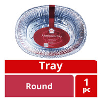 HomeProud Aluminium Tray - Round