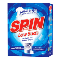 SPINmatic Low Suds Detergent Powder - Active Bright