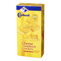 Cowhead Sandwich Crackers with Calcium - Cheese