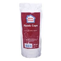 HomeProud Disposable Cups - Clear