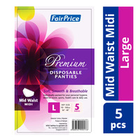 FairPrice Premium Disposable Panties - Mid Waist Midi (L)