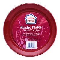 HomeProud Plastic Plates - Assorted Colour (18cm)