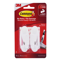 3M Command Wire Hooks - Medium