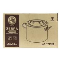 Zebra Stainless Steel Stock Pot - 28 x 20cm